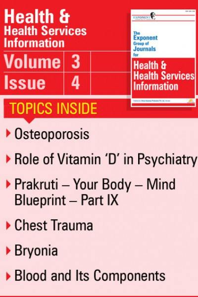 Health & Health Services Information – Volume 3 – Issue 4