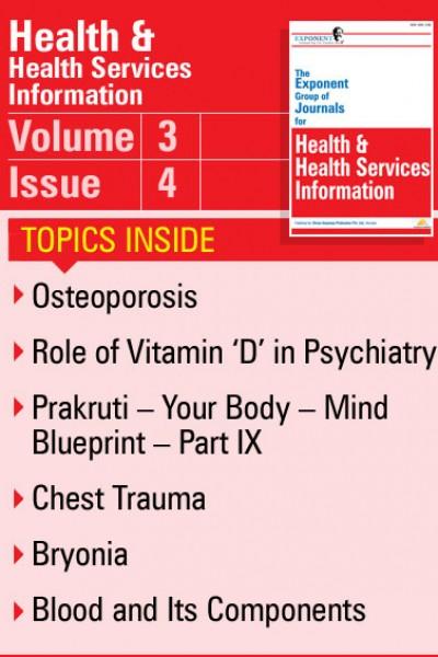 Health & Health Services Information – Volume 3 – Issue 4