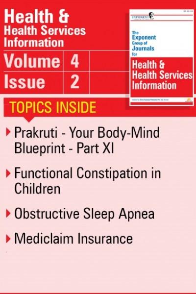 Health & Health Services Information – Volume 4 – Issue 2
